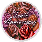 Tenth Anniversary Round Beach Towel