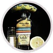 Tequila De Mexico Round Beach Towel