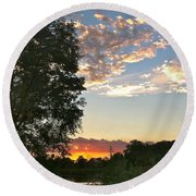 Tequila Sunset Round Beach Towel