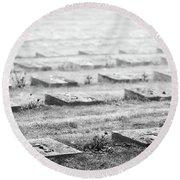 Terezin Cemetery Graves - Czechia Round Beach Towel