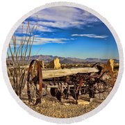 Terlingua Ghost Town 2 Round Beach Towel