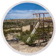 Terlingua Ghost Town #5 Round Beach Towel