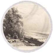Terrace Of St. Cloud (terrasse De St. Cloud) Round Beach Towel