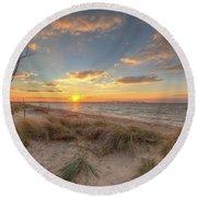 Terrapin Park Sunset Round Beach Towel