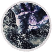 Terror From The Crypt Round Beach Towel