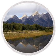 Teton 7 Round Beach Towel