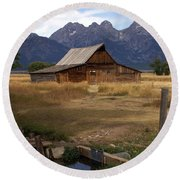 Teton Barn 2 Round Beach Towel