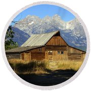 Teton Barn 4 Round Beach Towel