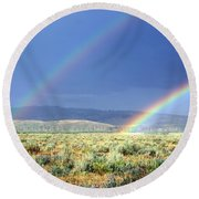 Teton Rainbow Round Beach Towel