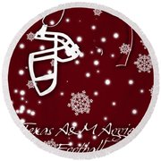Texas Am Aggies Christmas Card Round Beach Towel