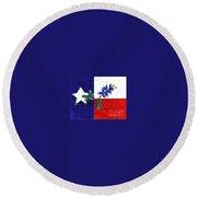 Texas Bluebonnet Round Beach Towel