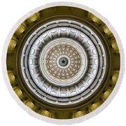 Texas Capitol Dome Round Beach Towel