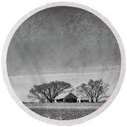 Texas Cotton Farm Round Beach Towel by Mary Lee Dereske