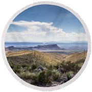 Texas Landscapes #2 Round Beach Towel