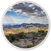 Texas Landscapes #3 Round Beach Towel
