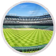 Texas Rangers Ballpark Waiting For Action Round Beach Towel