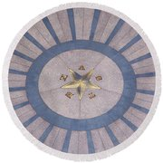 Texas State Capitol - Courtyard Floor Round Beach Towel