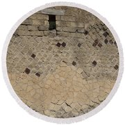 Textural Antiquities Herculaneum Wall One Round Beach Towel