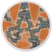 Textured Abstract # 2060ew4dt Round Beach Towel