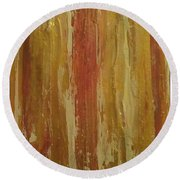 Textured Cinnamon Round Beach Towel