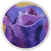 Textured Rose Round Beach Towel