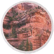 Textures Of Zion Round Beach Towel
