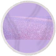 Textures Series - Frost Round Beach Towel