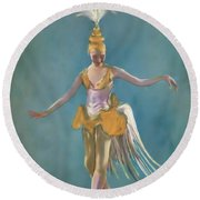 Thai Ballerina Round Beach Towel