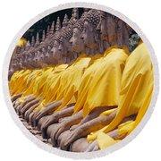 Thailand, Ayathaya Round Beach Towel