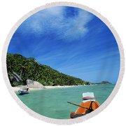 Thailand Boat Round Beach Towel