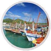 Thailand, Koh Phangan Round Beach Towel