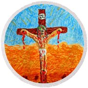 Thank God For Good Friday 1 Round Beach Towel
