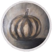 Thanksgiving - Pumpkin Round Beach Towel