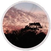 Thanksgiving Sky Round Beach Towel