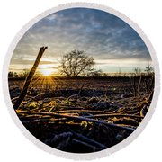 Thanksgiving Sunrise Round Beach Towel