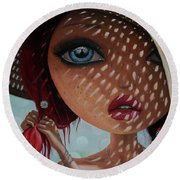 That Perfect Love I Never Had - Oil Painting Round Beach Towel