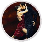 That Tango Moment Round Beach Towel