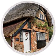 Thatched Cottages In Chawton 4 Round Beach Towel