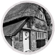 Thatched Cottages In Chawton 5 Round Beach Towel