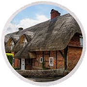 Thatched Cottages In Chawton Round Beach Towel