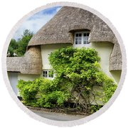Thatched Cottages Of Hampshire 19 Round Beach Towel