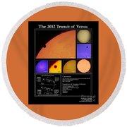 The 2012 Transit Of Venus Round Beach Towel