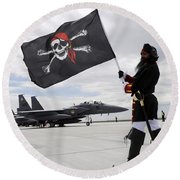 The 428th Fighter Squadron Buccaneer Round Beach Towel by Stocktrek Images