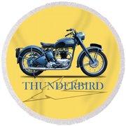 The 52 Thunderbird Round Beach Towel