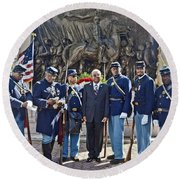 The 54th Regiment Bos2015_191 Round Beach Towel