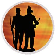The 73rd New York Round Beach Towel
