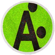 The A With Style Lime - Pa Round Beach Towel