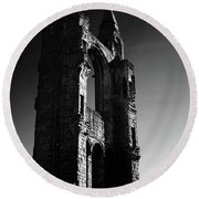 The Cathedral Wall Round Beach Towel