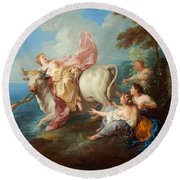The Abduction Of Europa Round Beach Towel