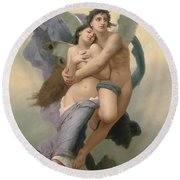 The Abduction Of Psyche Round Beach Towel